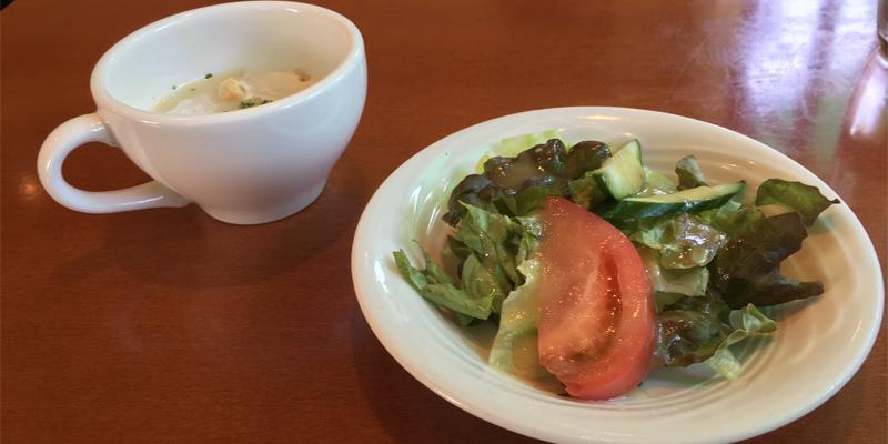 ルミエールのサラダとスープ