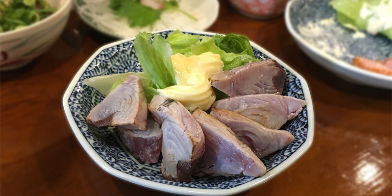 カツオ塩タタキ