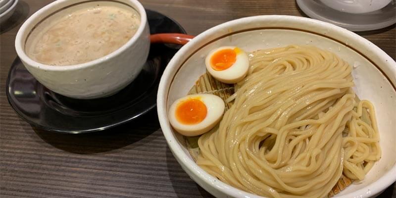 味玉入り鶏白湯つけ麺