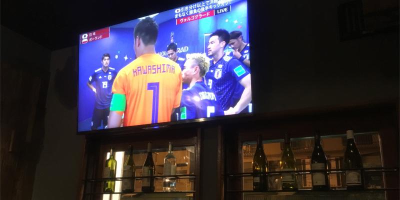 バルタナハシでワールドカップ観戦