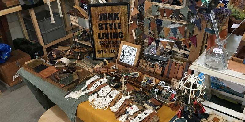 革製品の小物も販売(リノベのいばらきDIY工房