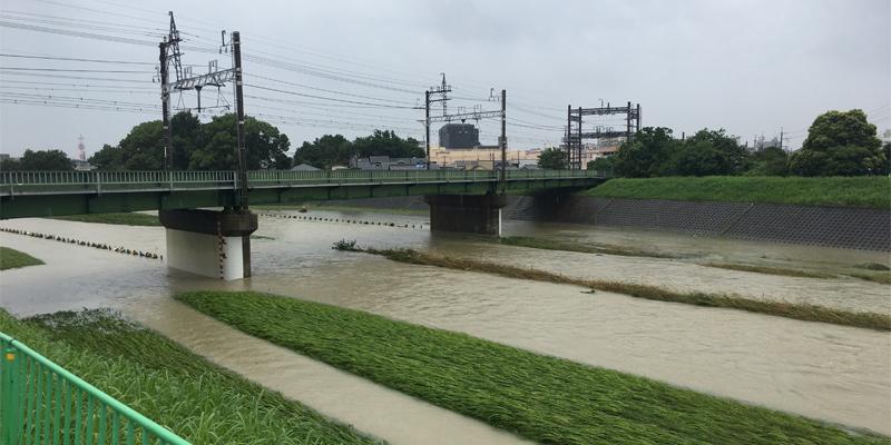 7月7日安威川の様子2