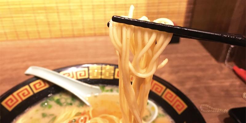 とんこつラーメン一蘭の細麺