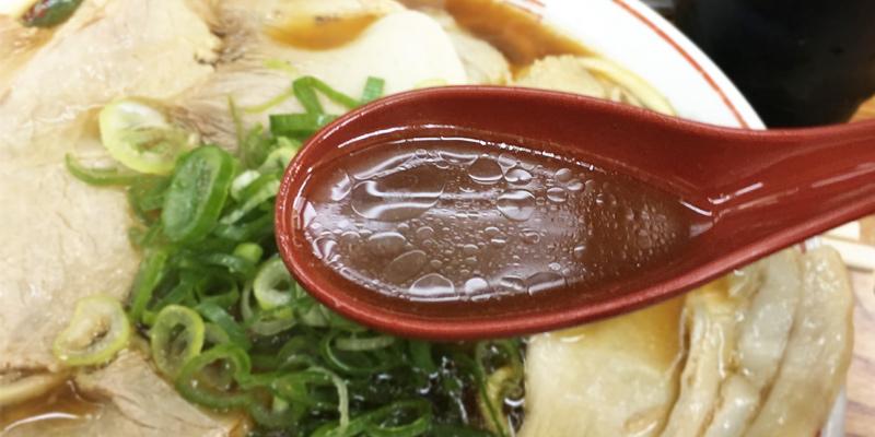 ゆうらいのチャーシューメンのスープ