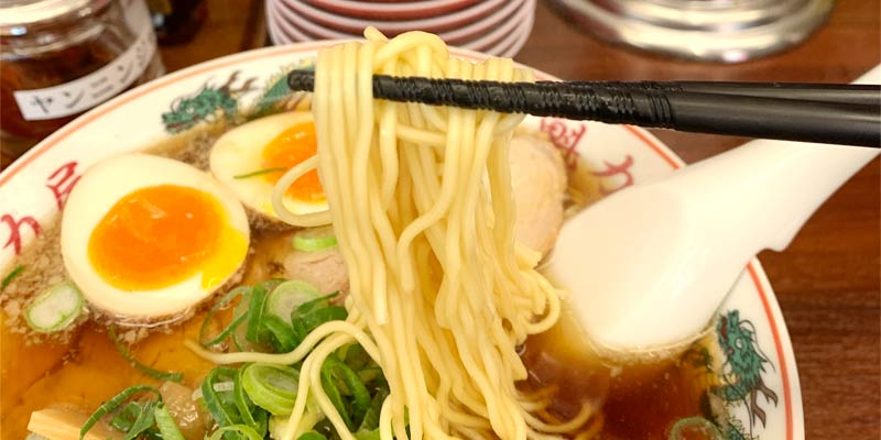 中細のストレート麺