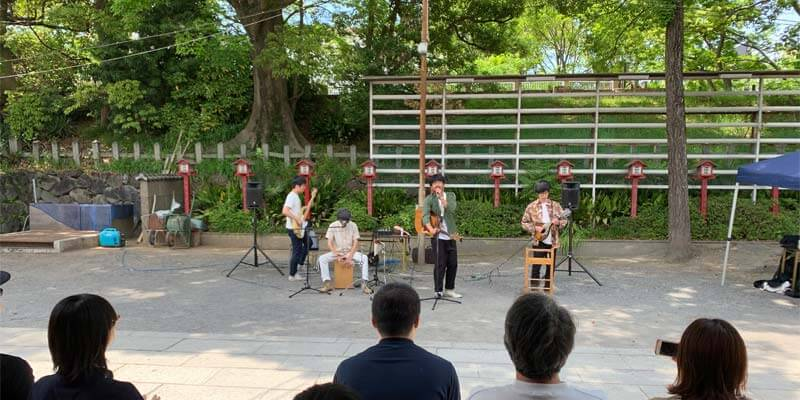 茨木神社でも音楽祭