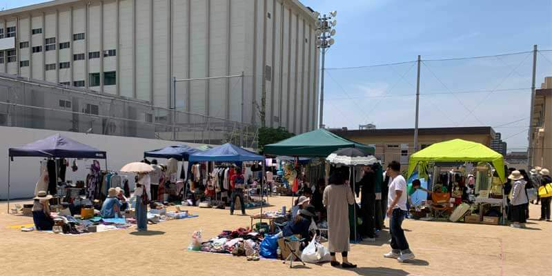茨木音楽祭のフリーマーケット