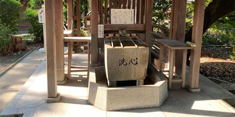磯良神社(疣水神社)の手水舎
