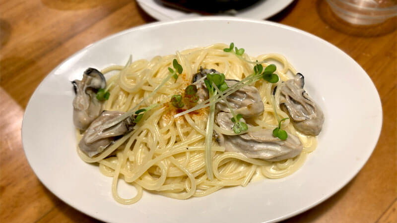 牡蠣ゆず風味パスタ