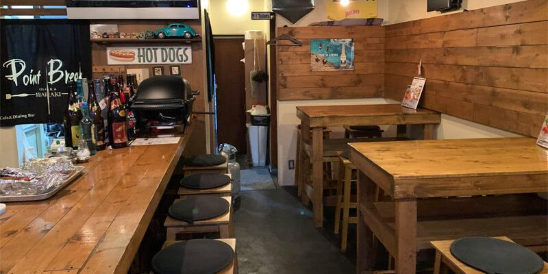 Cafe&Dining PointBreakの店内