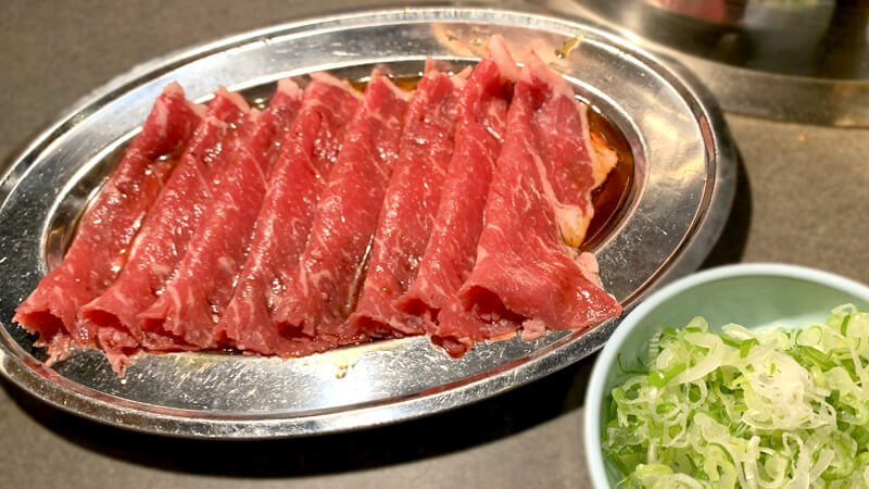 牛しゃぶロース(880円)