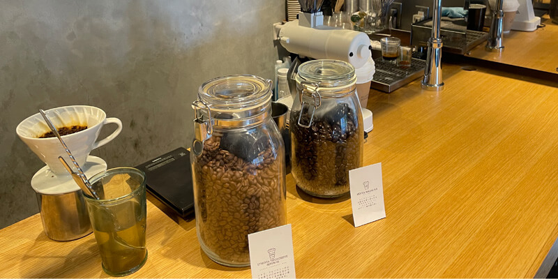 NO COFFEE NO WORKEEの店内