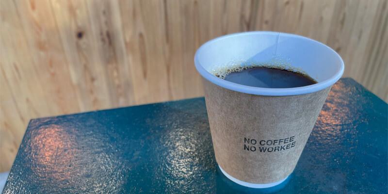 NO COFFEE NO WORKEEのコーヒー