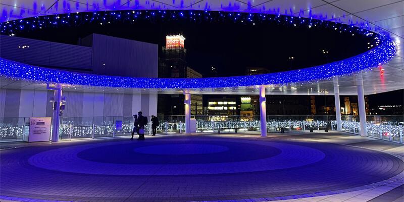 いばらきイルミフェスタ灯のJR茨木駅前のイルミネーション02