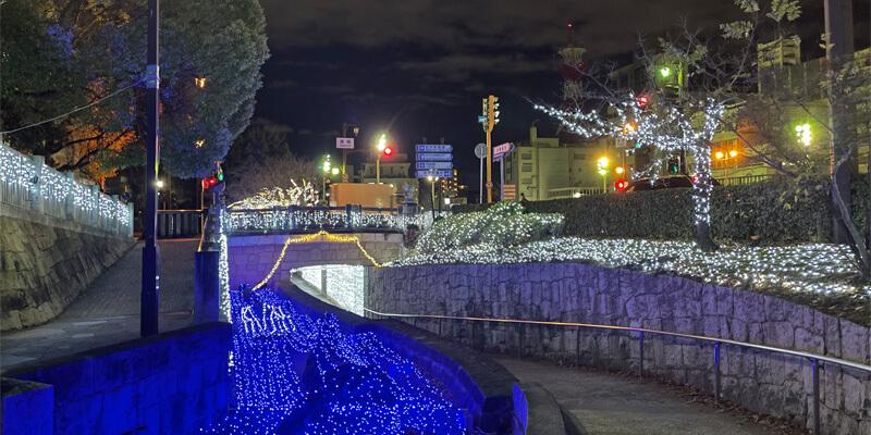 いばらきイルミフェスタ灯の元茨木川緑地のイルミネーション02