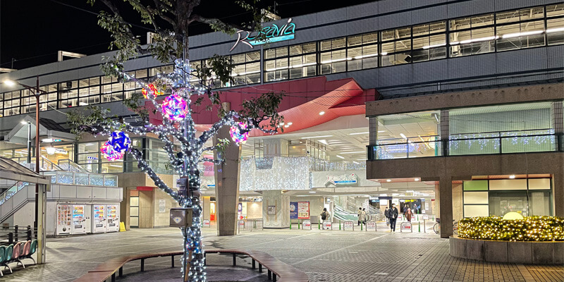 いばらきイルミフェスタ灯の阪急茨木市のイルミネーション01