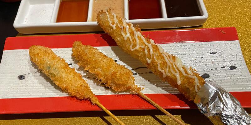 串やでござる茨木店の創作ござるコース