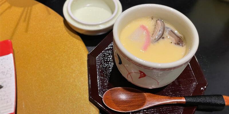 串やでござる茨木店の冷製茶碗蒸し