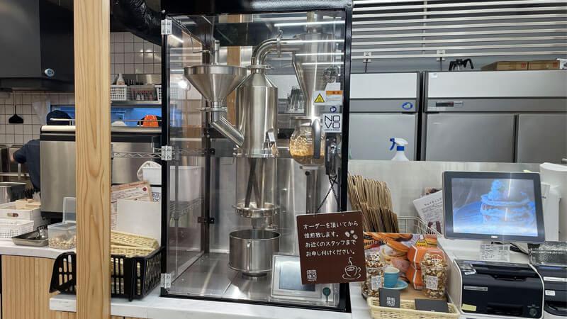 高木珈琲 茨木店の大きな焙煎機