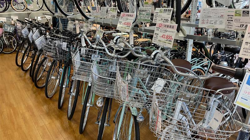 イオンバイク新茨木の自転車