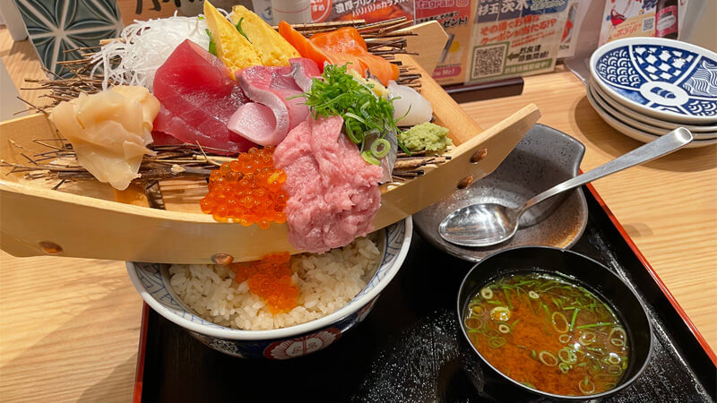 鮨・酒・肴 杉玉 茨木の舟盛り丼