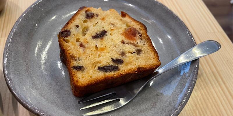 うつわcafeハリスのドライフルーツのパウンドケーキ