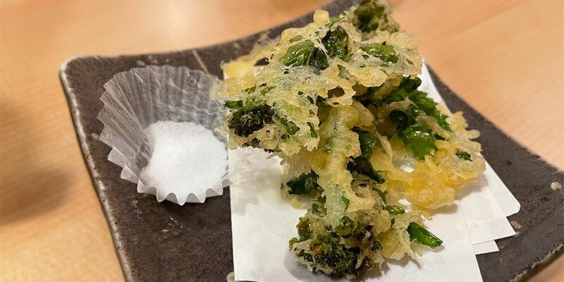 や台ずし 阪急茨木店の菜の花天ぷら