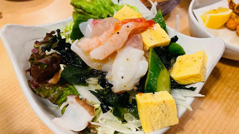 や台ずし 阪急茨木店の海鮮サラダ