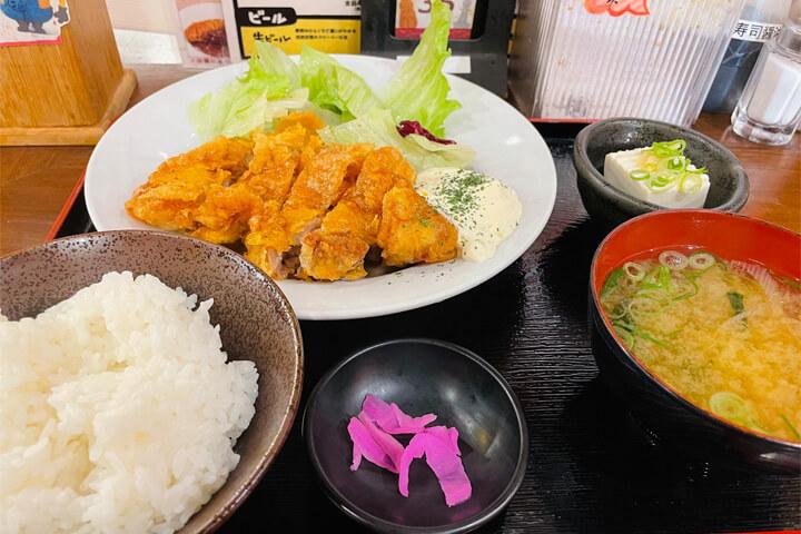 満マル 阪急茨木店のチキン南蛮定食